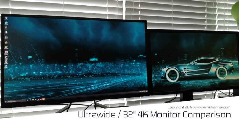 Ultrawide or 32″ 4K Monitor Screen Dimensions