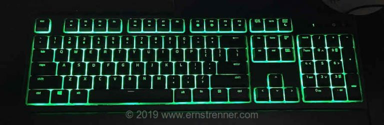 Black Friday 2019 Razer Ornata Chroma Backlit Mechanical Mecha-Membrane Ergonomic Gaming Keyboard