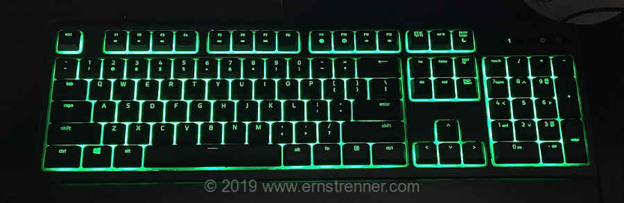 Razer Ornata Chroma Backlit Mechanical Mecha-Membrane Ergonomic Gaming Keyboard