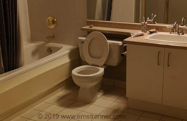 bathroom make-over renovation original old image