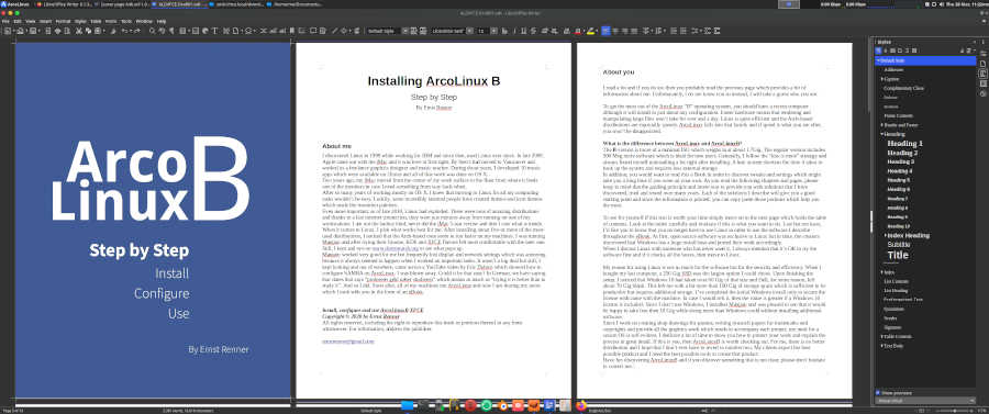 arcolinux ebook libreoffice