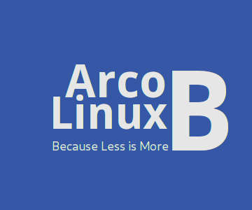 ebook arco linux b less is more