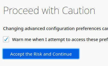 linux install configure firefox