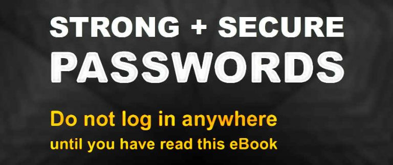 strong and secure passwords banner