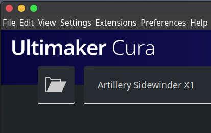 Artillery Sidewinder X 1 Cura 4.6 Profile Setup