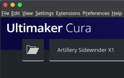 cura 4.6 artillery sidewinder swx1 configuration