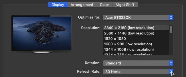 late 2009 iMac 4k display settings