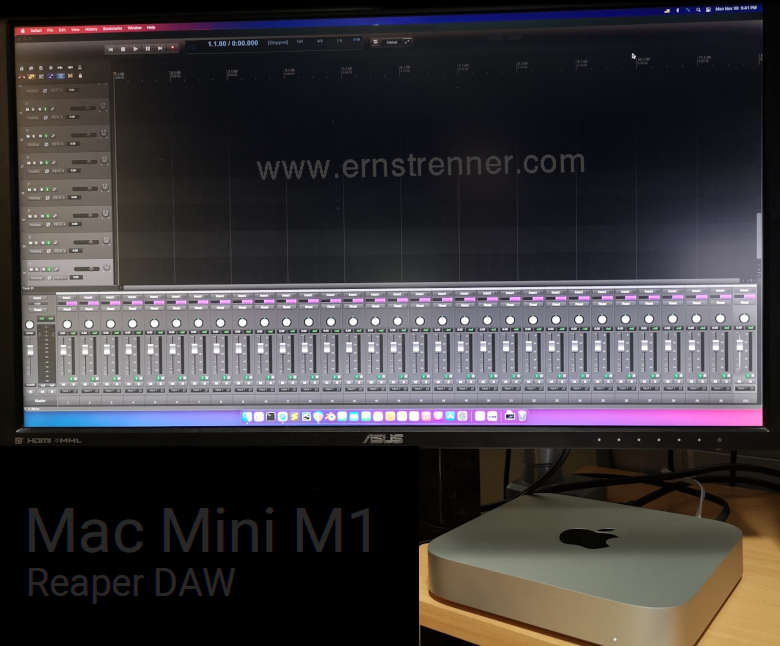 mac mini m1 reaper audio